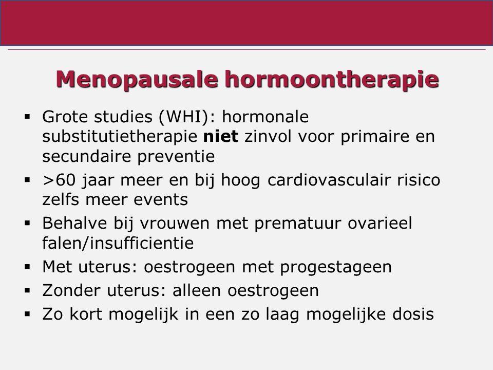 Menopausale hormoontherapie