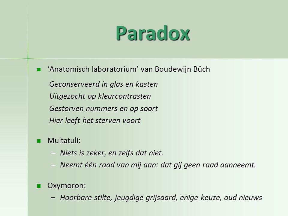 Paradox 'Anatomisch laboratorium' van Boudewijn Büch