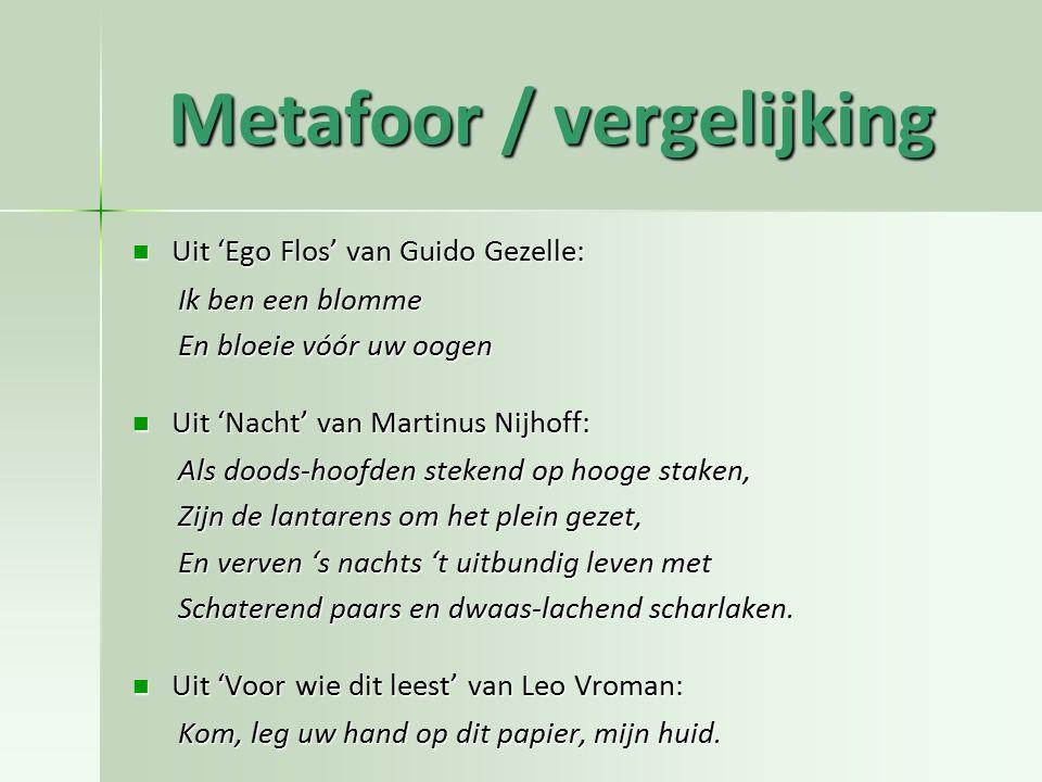 Metafoor / vergelijking