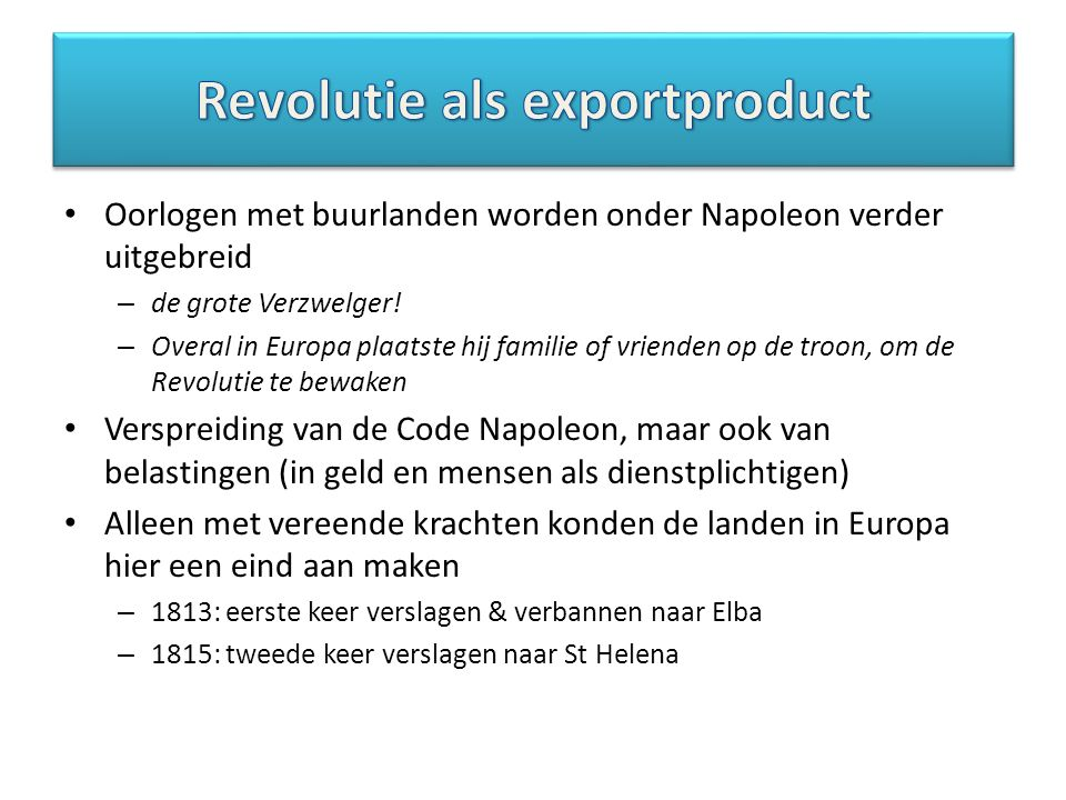 Revolutie als exportproduct