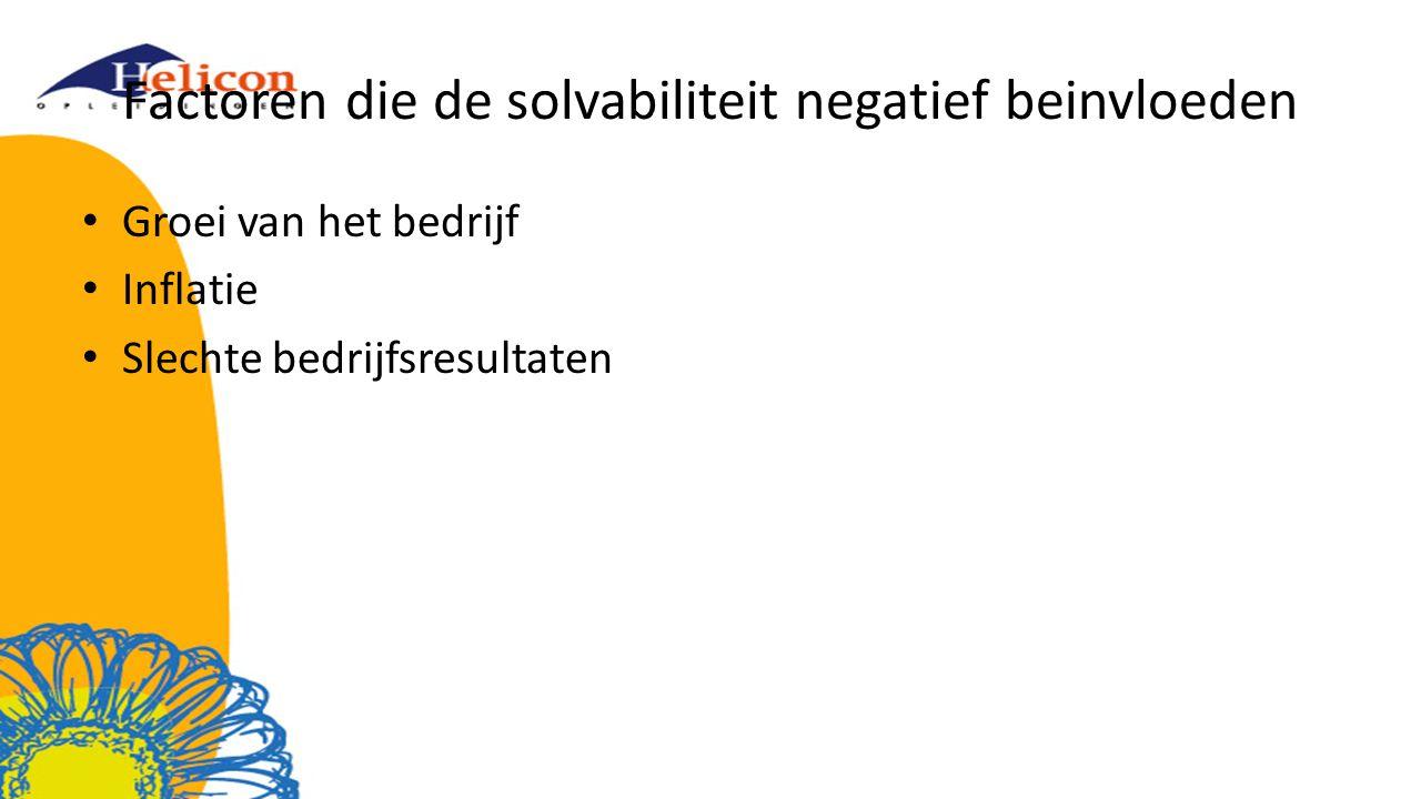 Factoren die de solvabiliteit negatief beinvloeden