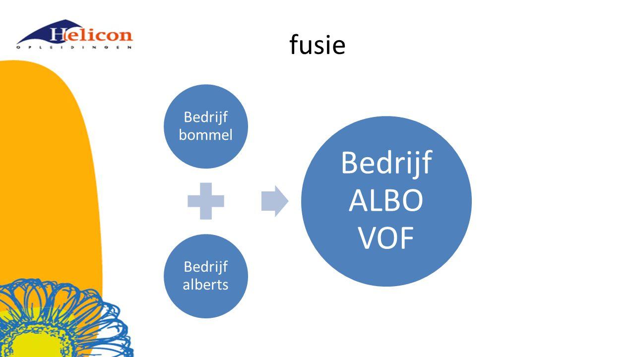 fusie Bedrijf bommel Bedrijf alberts Bedrijf ALBO VOF