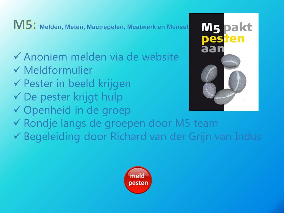 M5: Melden, Meten, Maatregelen, Maatwerk en Menselijk