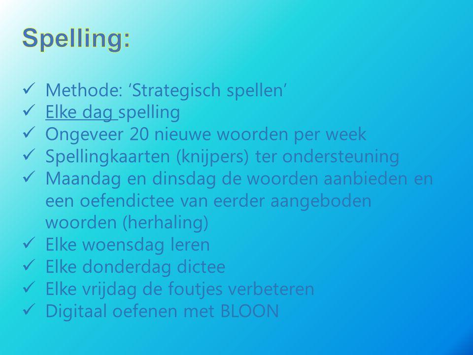 Spelling: Methode: 'Strategisch spellen' Elke dag spelling
