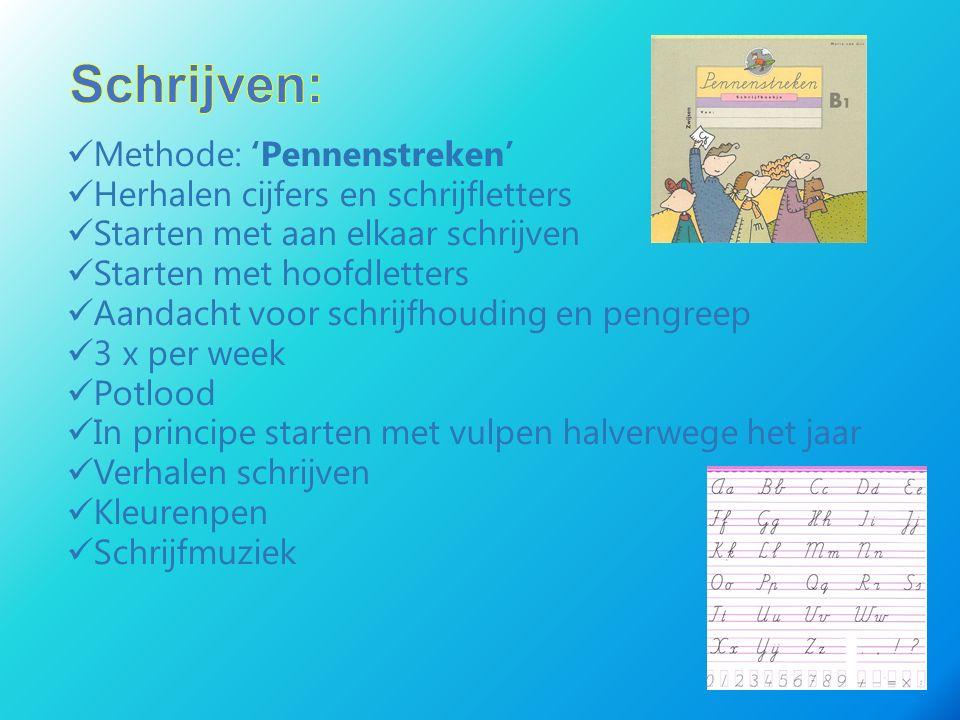 Schrijven: Methode: 'Pennenstreken' Herhalen cijfers en schrijfletters