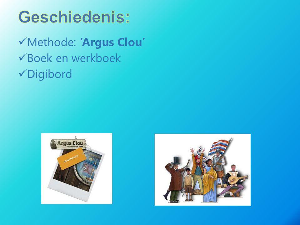 Geschiedenis: Methode: 'Argus Clou' Boek en werkboek Digibord