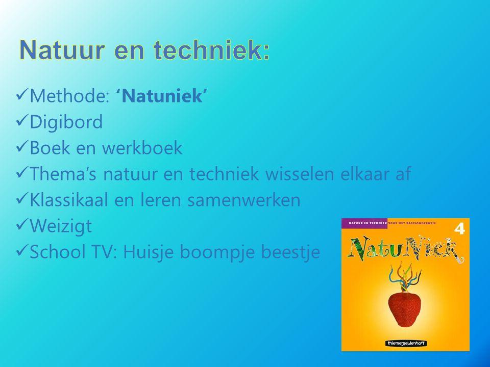 Natuur en techniek: Methode: 'Natuniek' Digibord Boek en werkboek