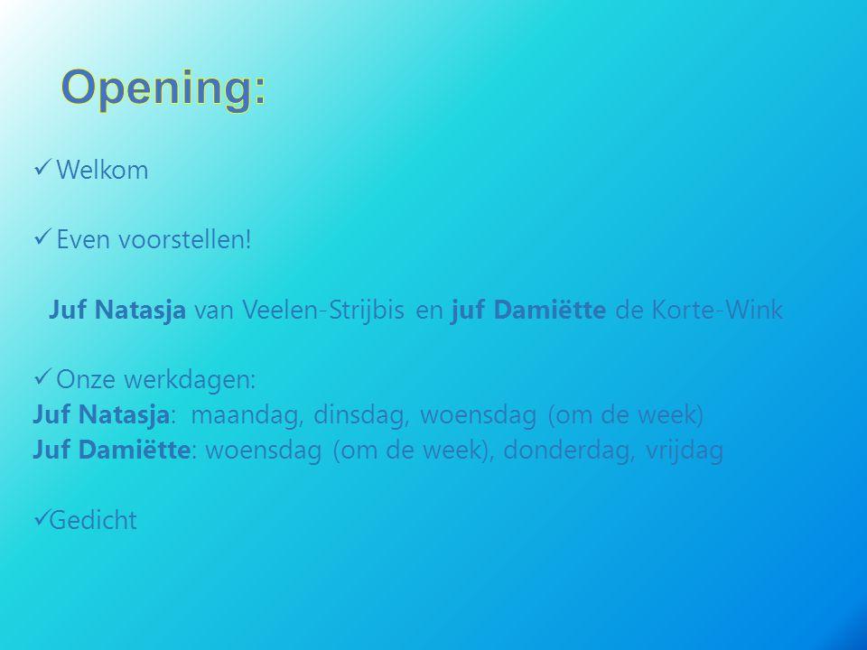 Opening: Welkom Even voorstellen!