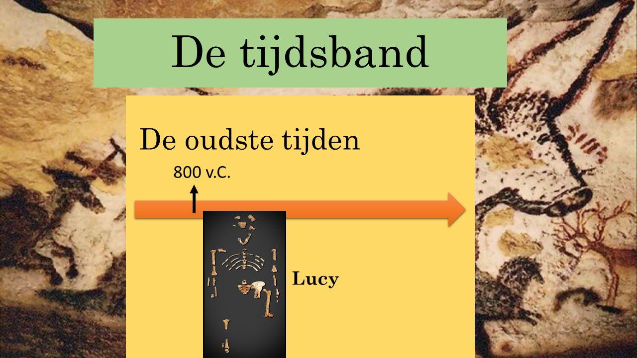 De tijdsband De oudste tijden 800 v.C. Lucy