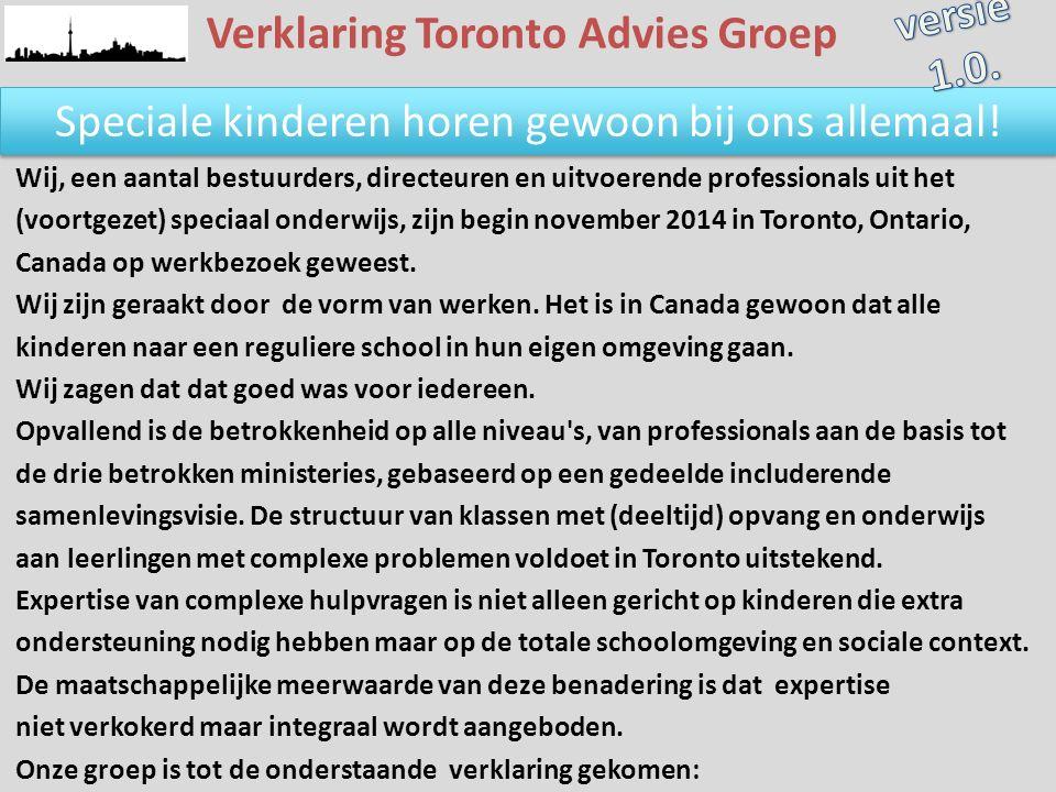 Verklaring Toronto Advies Groep