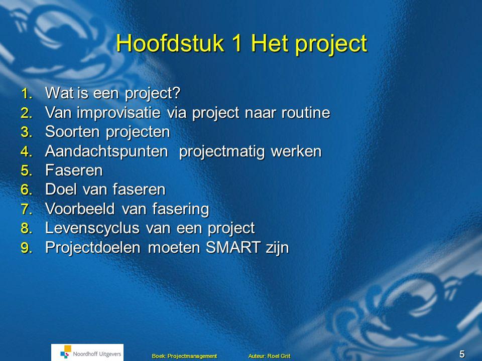Hoofdstuk 1 Het project Wat is een project