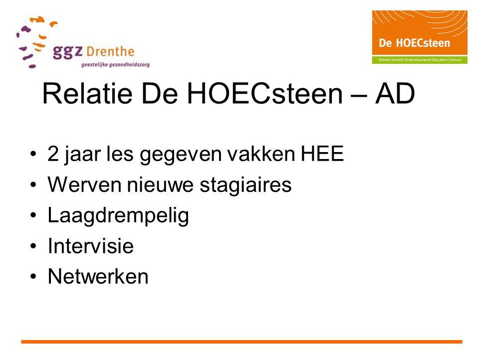 Relatie De HOECsteen – AD
