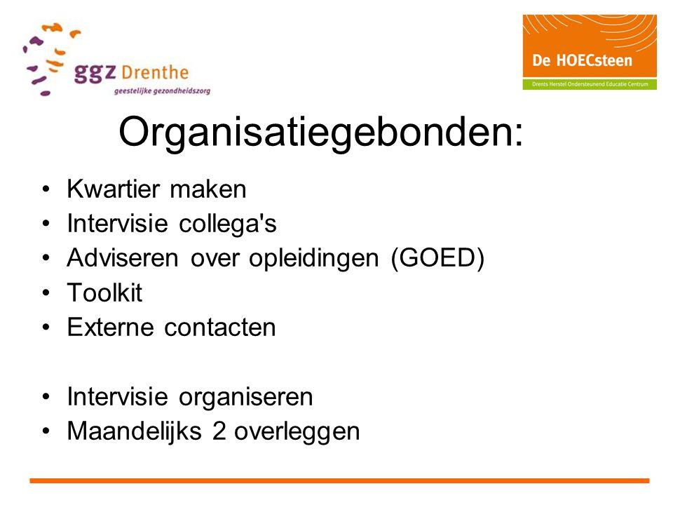 Organisatiegebonden: