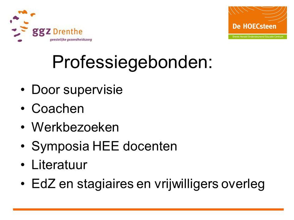 Professiegebonden: Door supervisie Coachen Werkbezoeken