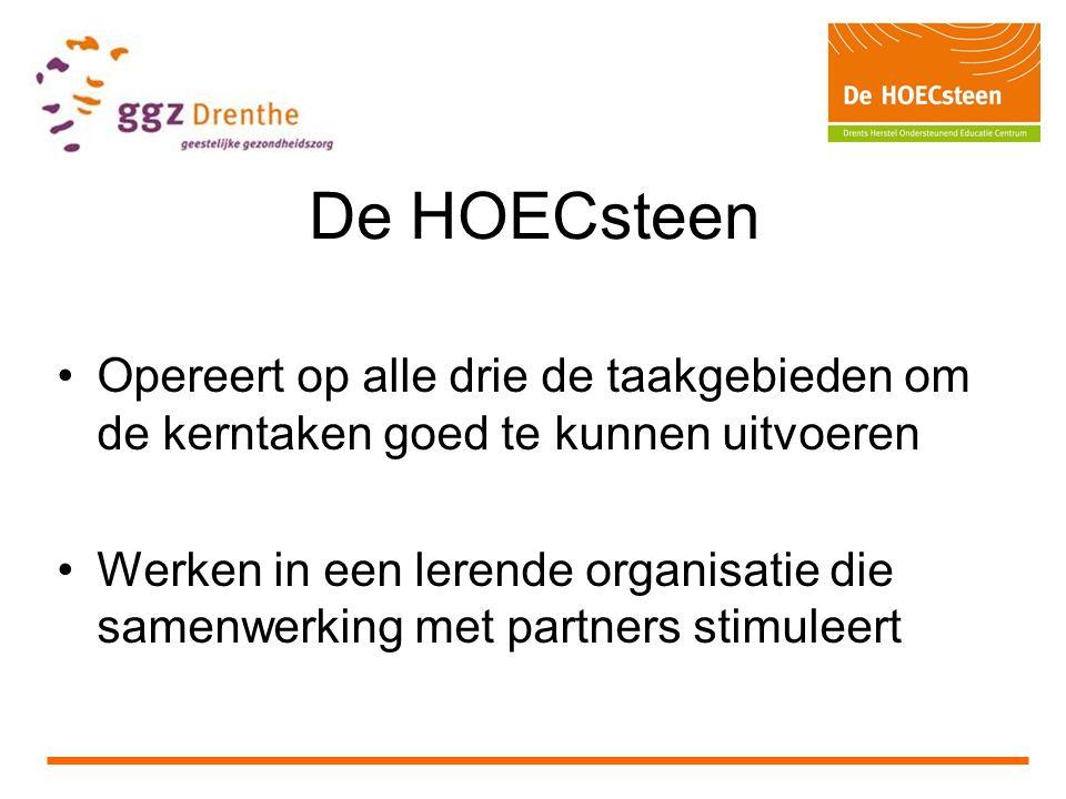 De HOECsteen Opereert op alle drie de taakgebieden om de kerntaken goed te kunnen uitvoeren.