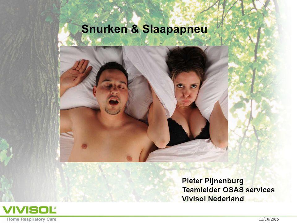 Snurken & Slaapapneu Pieter Pijnenburg Teamleider OSAS services
