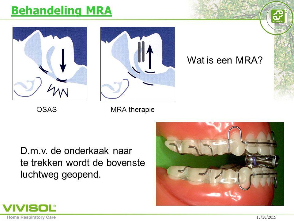 Behandeling MRA Wat is een MRA D.m.v. de onderkaak naar