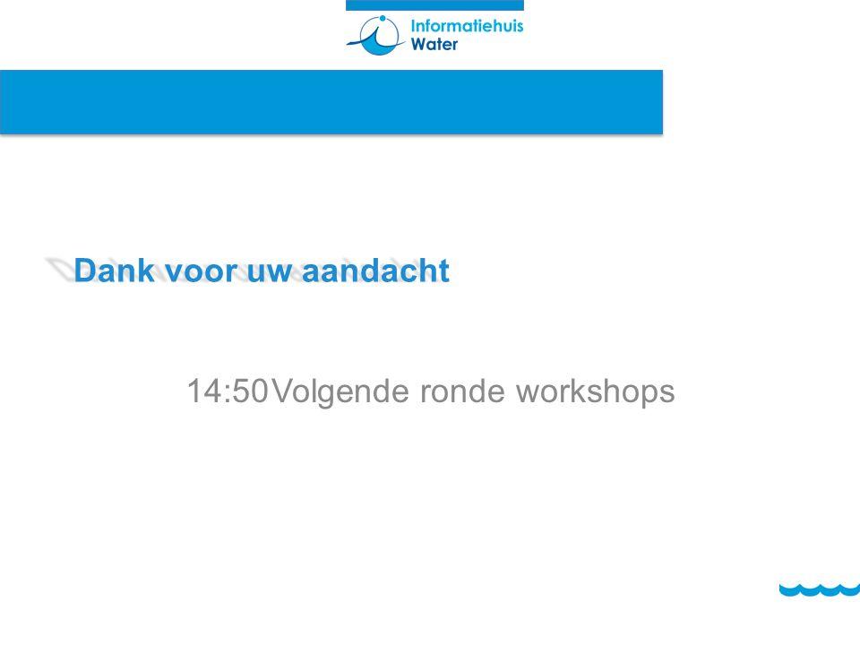 14:50 Volgende ronde workshops