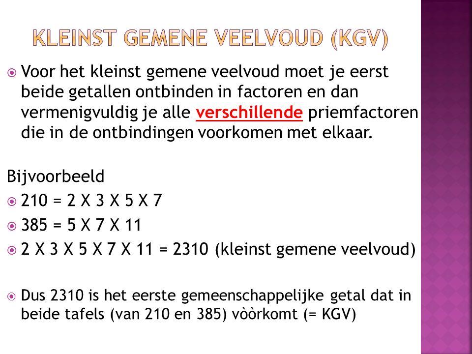 Kleinst gemene Veelvoud (KGV)