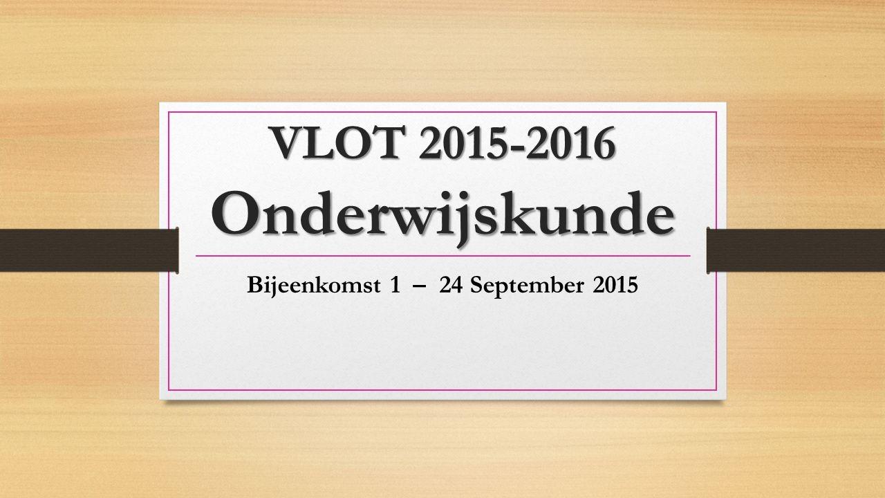 Bijeenkomst 1 – 24 September 2015