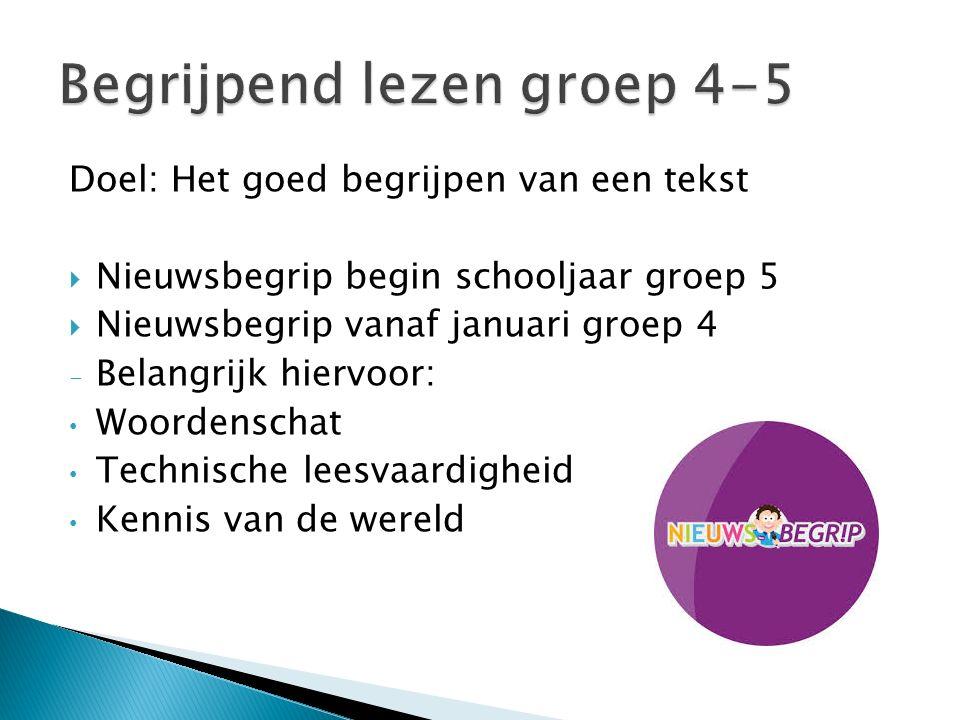 Begrijpend lezen groep 4-5