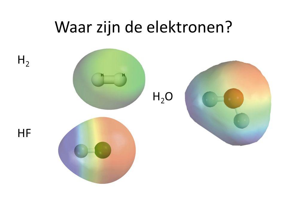 Waar zijn de elektronen
