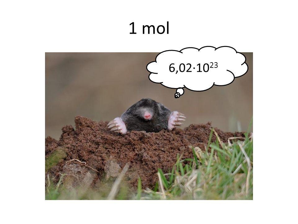 1 mol 6,02∙1023