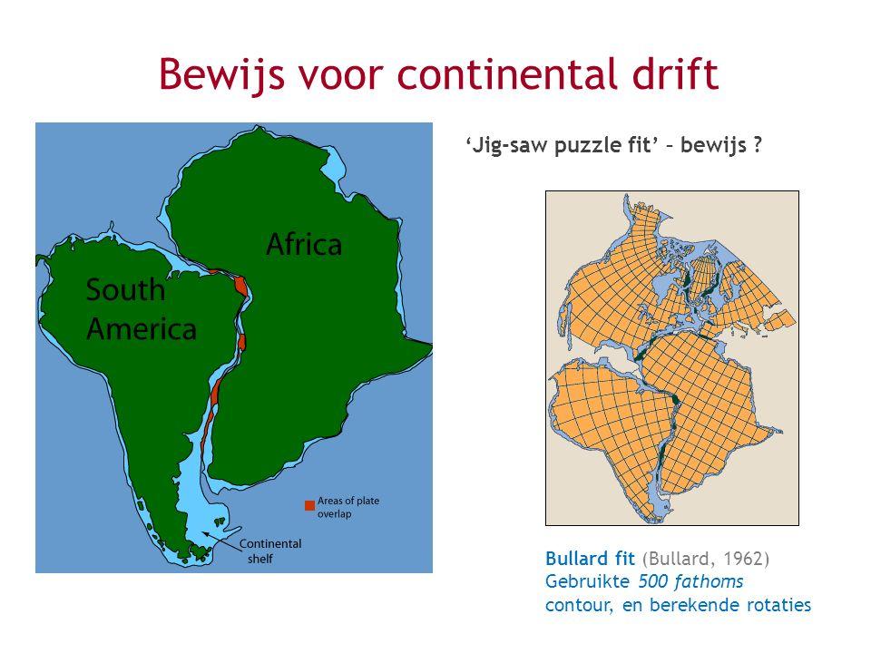 Bewijs voor continental drift