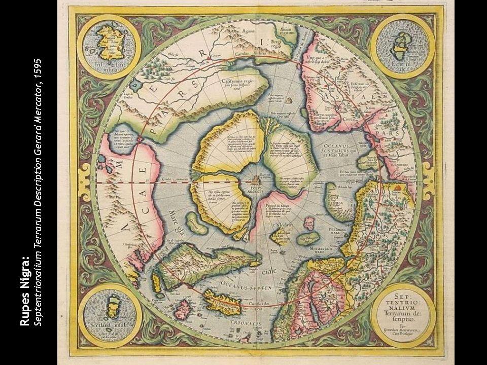 Septentrionalium Terrarum Description Gerard Mercator, 1595