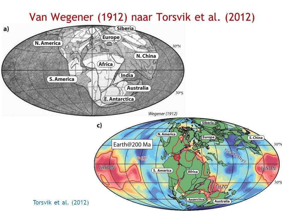 Van Wegener (1912) naar Torsvik et al. (2012)