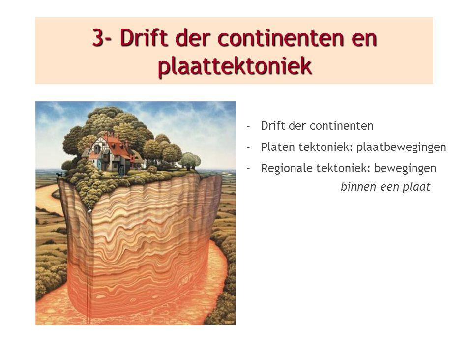 3- Drift der continenten en plaattektoniek