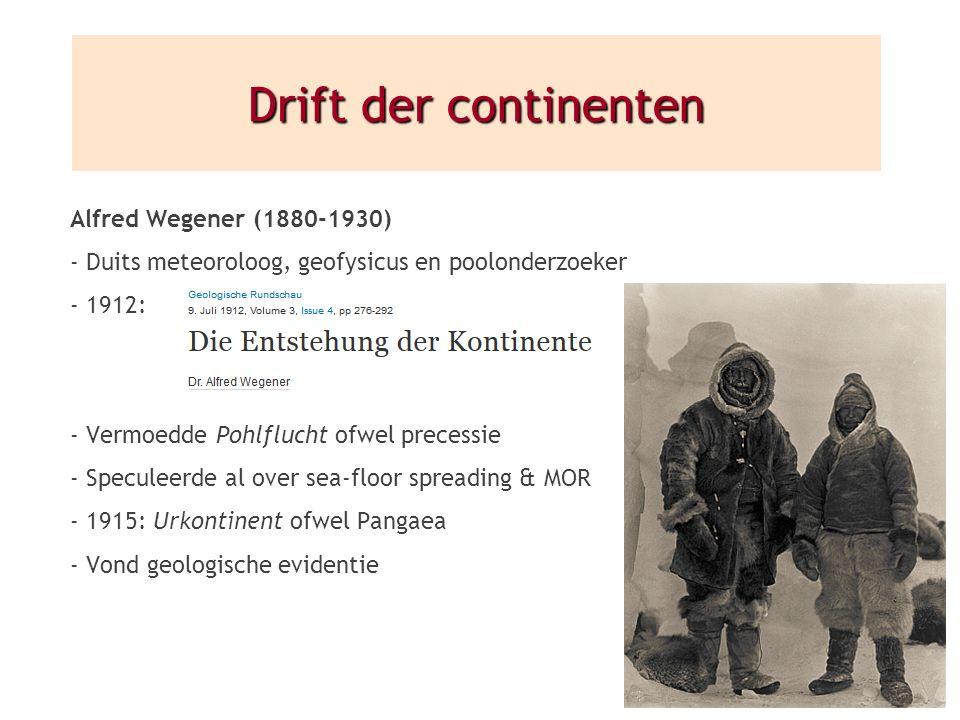 Drift der continenten Alfred Wegener (1880-1930)