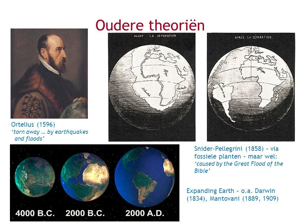 Oudere theoriën Ortelius (1596)