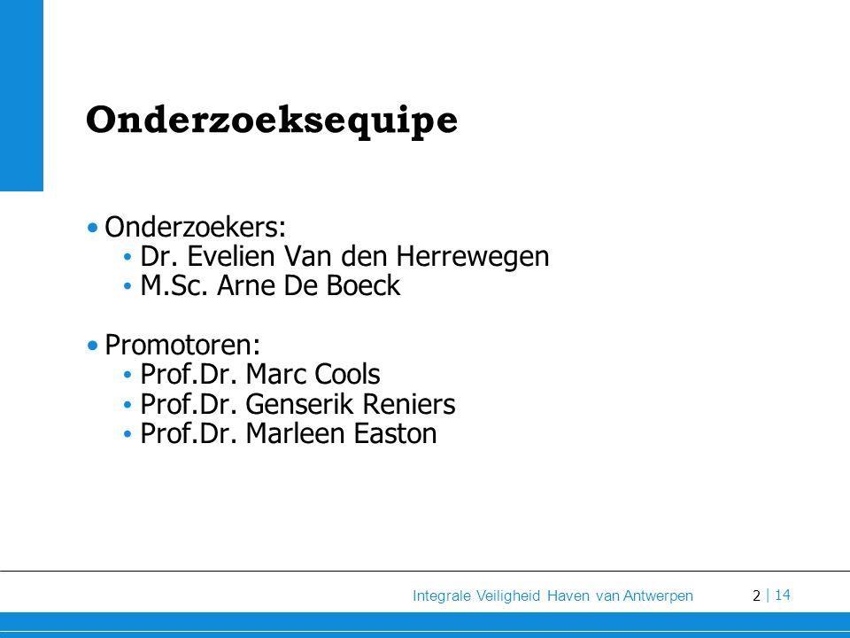 Onderzoeksequipe Onderzoekers: Dr. Evelien Van den Herrewegen