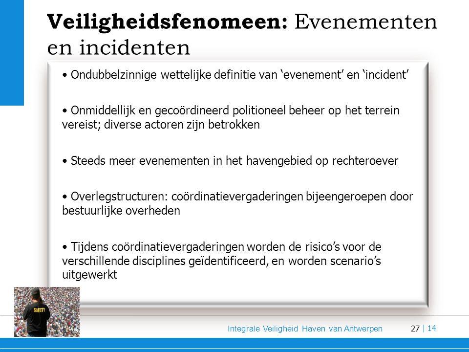Veiligheidsfenomeen: Evenementen en incidenten