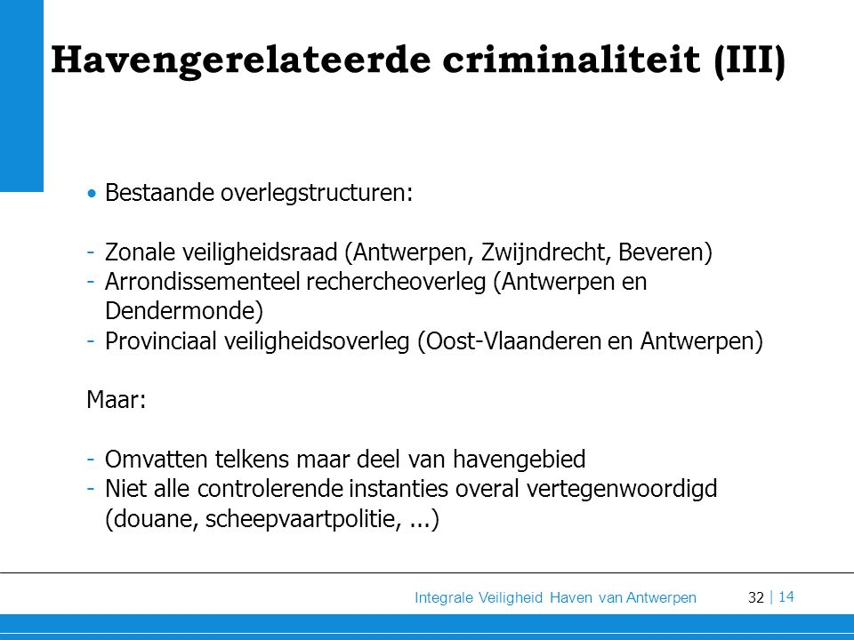 Havengerelateerde criminaliteit (III)
