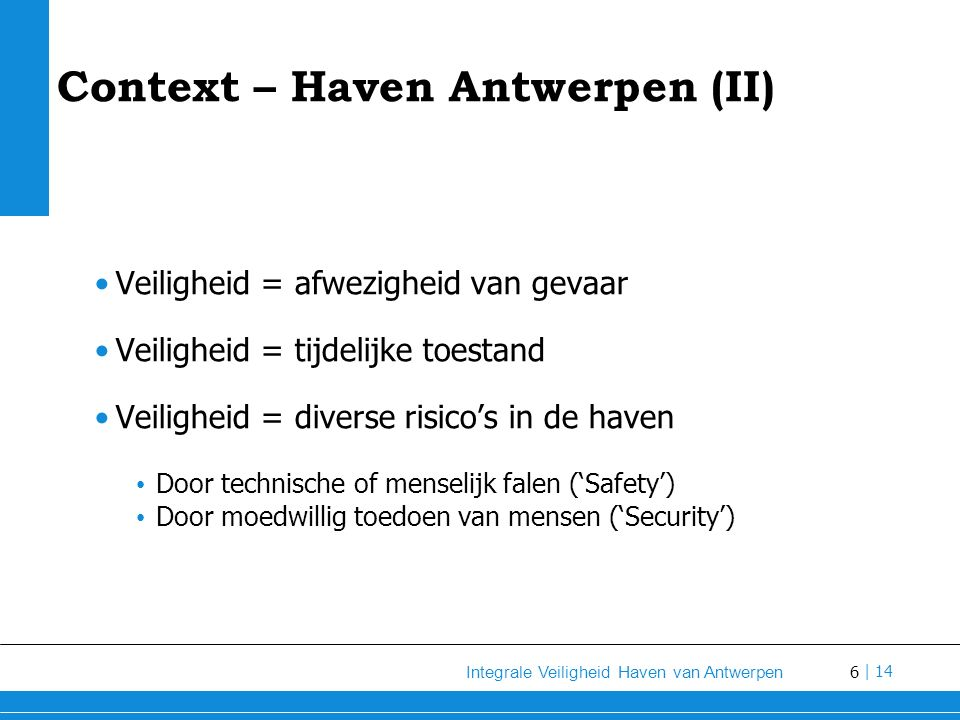 Context – Haven Antwerpen (II)
