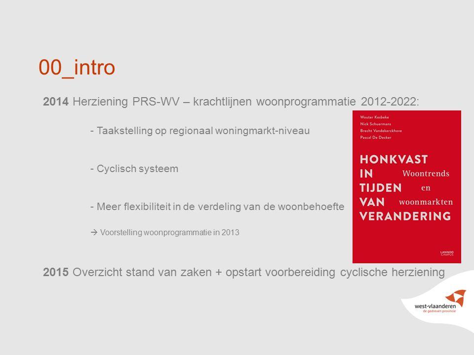 00_intro 2014 Herziening PRS-WV – krachtlijnen woonprogrammatie 2012-2022: - Taakstelling op regionaal woningmarkt-niveau.
