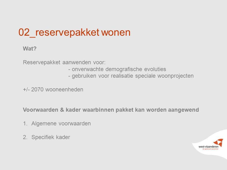 02_reservepakket wonen Wat Reservepakket aanwenden voor: