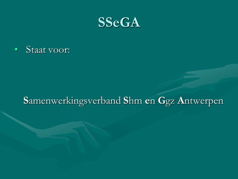 SSeGA Staat voor: Samenwerkingsverband Shm en Ggz Antwerpen