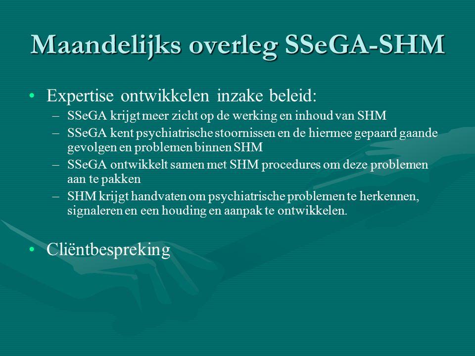 Maandelijks overleg SSeGA-SHM
