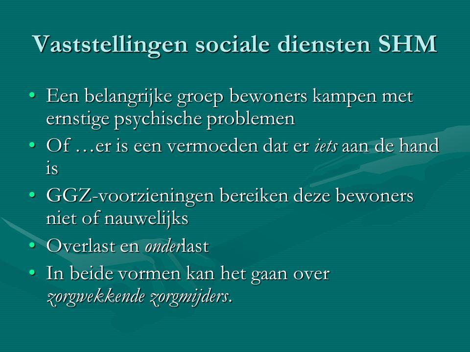 Vaststellingen sociale diensten SHM