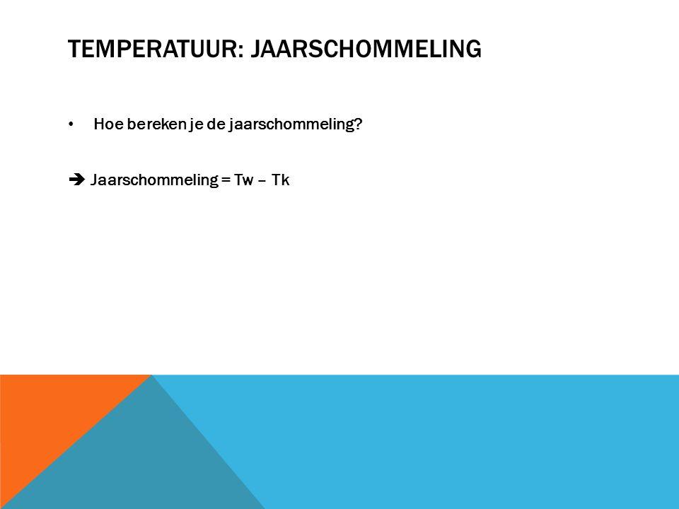 Temperatuur: JAARSCHOMMELING