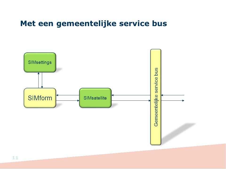 Met een gemeentelijke service bus