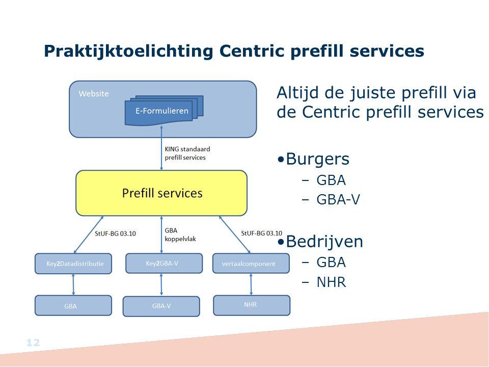 Praktijktoelichting Centric prefill services