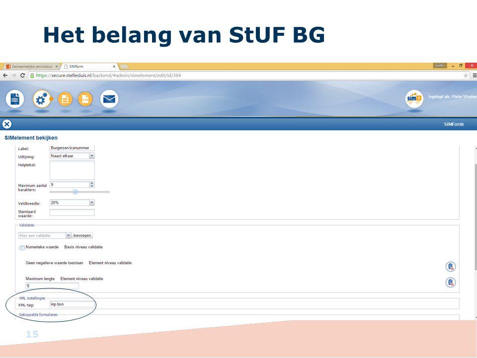Het belang van StUF BG
