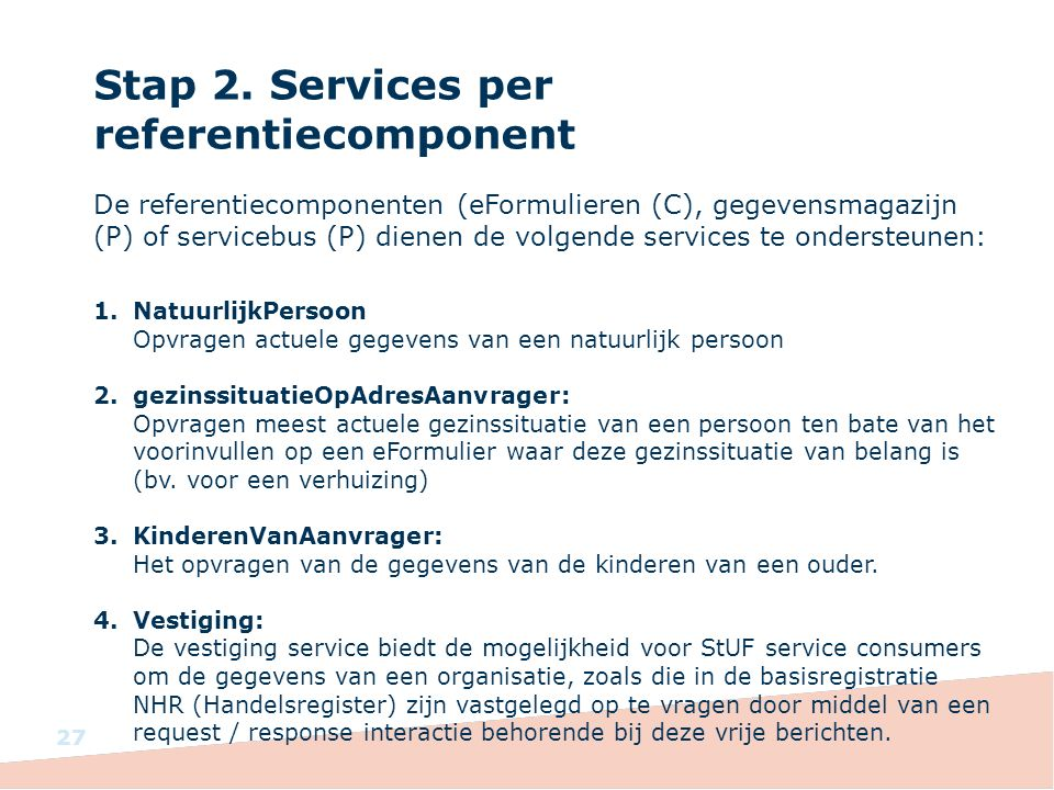 Stap 2. Services per referentiecomponent