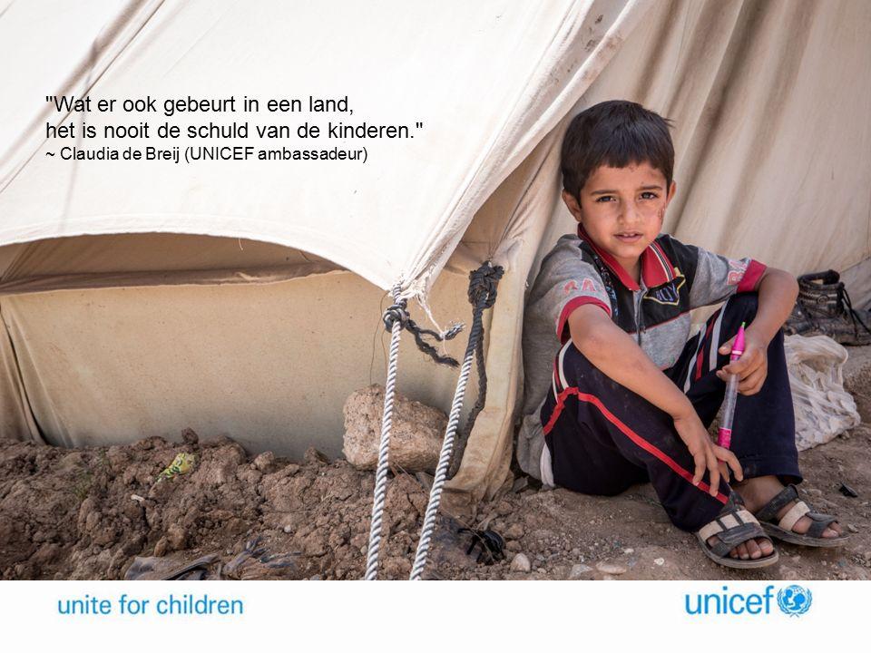 Wat er ook gebeurt in een land, het is nooit de schuld van de kinderen.