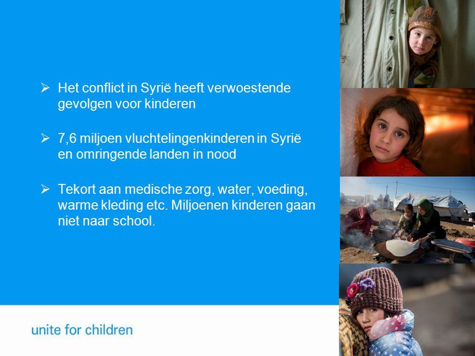 Het conflict in Syrië heeft verwoestende gevolgen voor kinderen