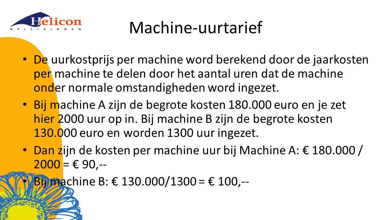 Machine-uurtarief